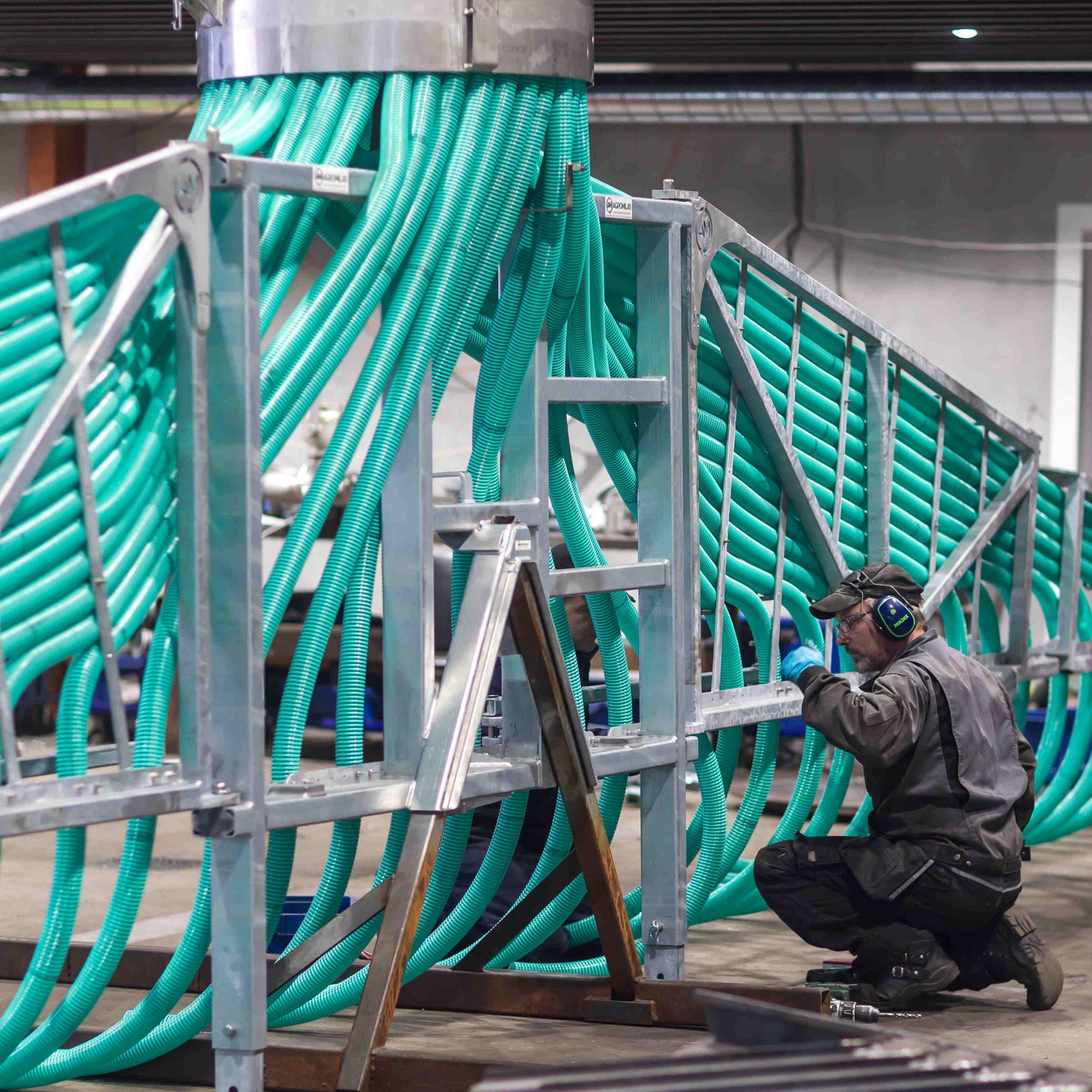 Montering av Agromiljø Modell 50 stripespreder